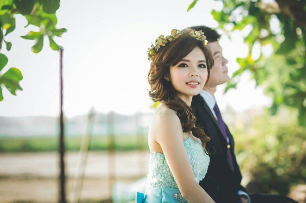 甜美新娘現場婚宴